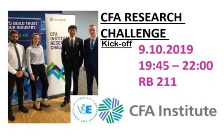 CFA Institute Research Challenge 2019- Kick-off